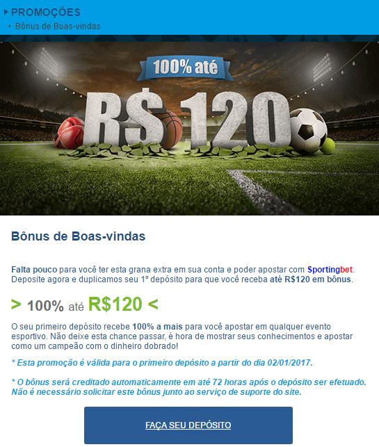 bonus boas-vindas sportingbet