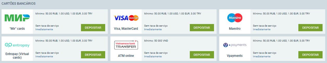 1xbet formas de pagamento