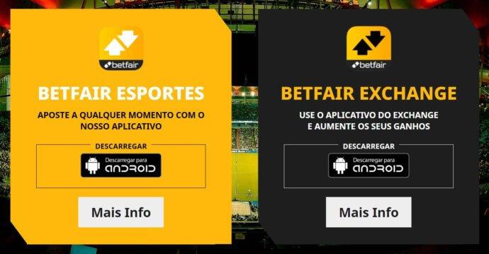 Betfair código APP Esportes e Exchange