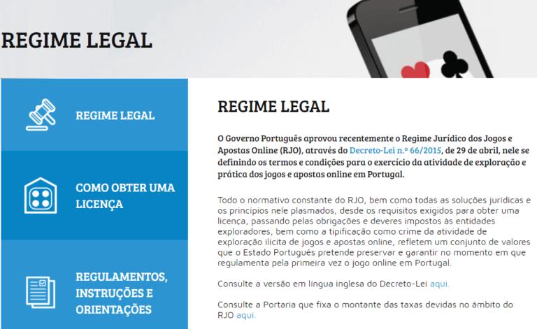 legalidade de jogo em Portugal