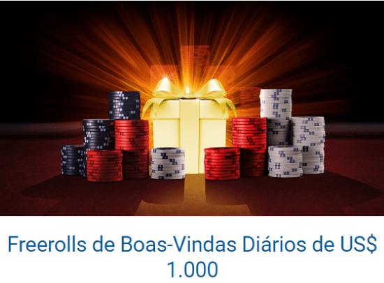 PokerStars Freeroll de Boas-Vindas